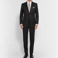 Tom Ford - Black Slim-Fit Peak Lapel Wool Suit | MR PORTER