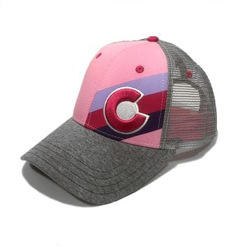 Incline Colorado Small Fit Trucker Hat - Pink Fusion