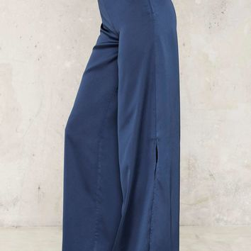 Wide Awake Slit Pants