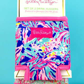 LILLY PULITZER: Koozie Set - Shrimply Chic/Oh Shello