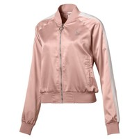 En Pointe Satin T7 Women's Jacket | Peach Beige | PUMA Shoes | PUMA United States