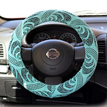 Steering Wheel Cover Bow Wheel Car Accessories Lilly Heated For Girls Interior Aztec Monogram Tribal Camo Cheetah Sterling Chevron Mint Lace