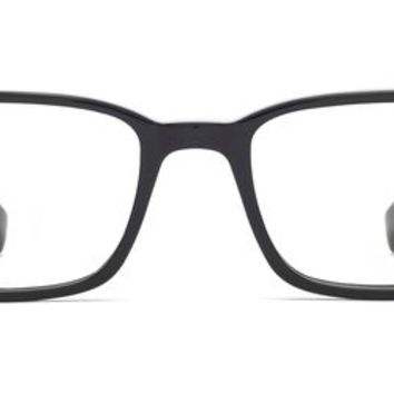 Crane Eyeglasses in Jet Black for Men | Warby Parker