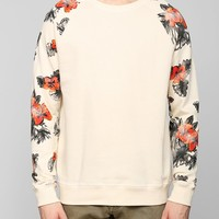 BDG Rose-Sleeve Pullover Sweatshirt - Urban Outfitters