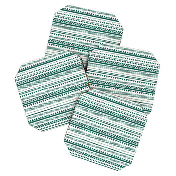 Allyson Johnson Teal Aztec Coaster Set
