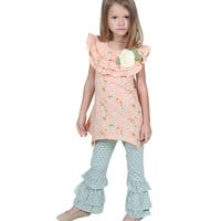 Jelly The Pug Peach Sweet Heart Julia Tunic & Pants - Toddler, Girls  2T,3T,6