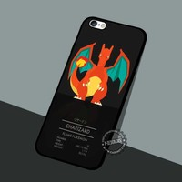 Charizad Flame Pokemon - iPhone 7 6 5 SE Cases & Covers