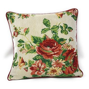 Tache Sweet Roses Vintage Ivory Woven Tapestry Cushion Covers (17593CC)
