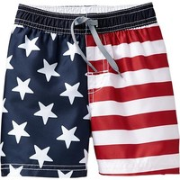 Flag Swim Trunks for Baby