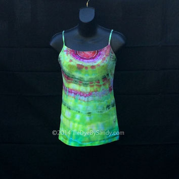 SALE! Small Women's Tie-Dye Tank Top- Agate Pattern