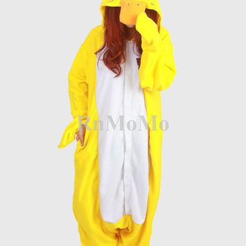KIGURUMI Cosplay Romper Charactor animal Hooded Night clothes Pajamas Pyjamas Costume sloth  outfit Sleepwear-duck-animal