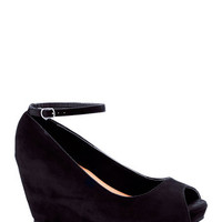 After Party Planner Wedge in Black