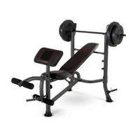 Standard Weight Bench with 80 LB Weight Set