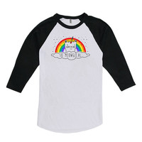 Funny Cat TShirt So Meowgical Rainbow Shirt Pet Lover Gifts Kitty Clothing Cat Tee 3/4 Sleeve T Shirt American Apparel Unisex Raglan WT-317