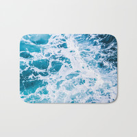 Perfect Ocean Sea Waves Bath Mat by Nature Magick