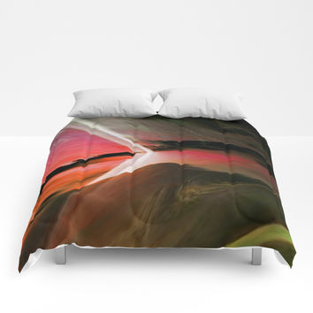 Bold Color Modern Abstract #homedecor Comforters by Sheila Wenzel