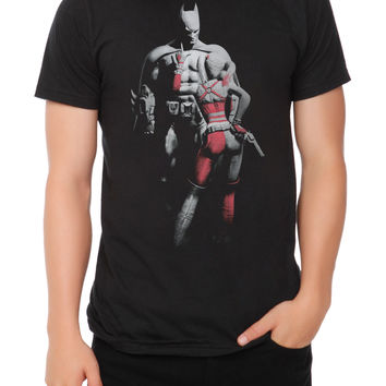 DC Comics Arkham City Batman And Harley Slim-Fit T-Shirt 2XL