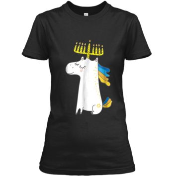 Funny Jewish  Unicorn Menorah  Kids Girl Hanukkah Ladies Custom