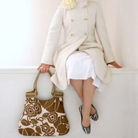 drikab shadow ivory jute basic tote by DrikaB on Etsy