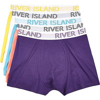 River Island MensMixed RI branded boxer shorts pack