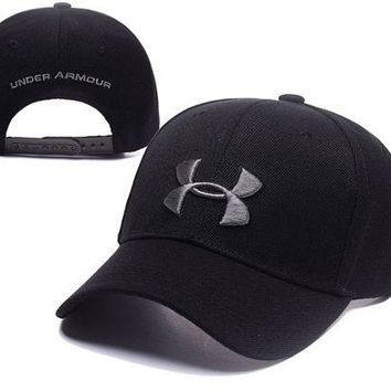 PEAPDQ7 Black Under Armour Embroidered Outdoor Baseball Cap
