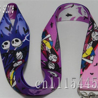 Free shipping The Nightmare Before Christmas Key Lanyards for Kids Mobile Phone Neck Straps