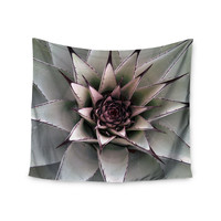 """Suzanne Carter """"Succulent"""" Green Black Wall Tapestry"""