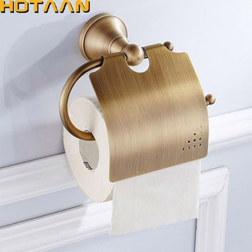 Free Shipping,Antique Brass Finish  Solid Brass toilet paper holder bathroom accessoreis toilet paper holder YT-13592