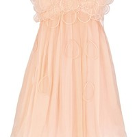 Raindrops on Roses Chiffon Designer Dress in Peach by Minuet - WHAT'S NEW