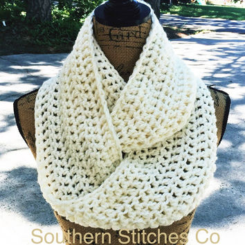 Pre-Season Sale Infinity Scarf Crochet Scarf Custom Eternity 72 Colors To Choose From