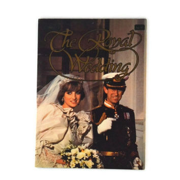 Vintage 1981 The Royal Wedding, Prince Charles and Princess Diana Memory Wedding Book