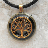 tree of life necklace: black - celtic jewelry - tree necklace - elven jewelry - unique gift - nature necklace -  forest jewelry - valentine