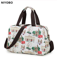 Fashion Women Travel Bag Luggage Handbag Print Travel Duffle Bags Korean Style Folding Travel Tote Bag PT1063