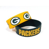 Green Bay Packers Bracelets - 2 Pack Wide