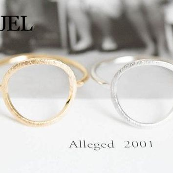 SMJEL 2017  New Fashion Open Round rings Unique Rings Couple rings Simple Shape Round Ring For Women 10PCS-R027