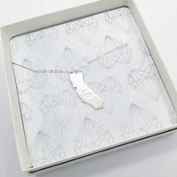 Home State Necklace | Sterling Silver