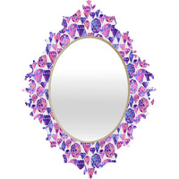 Ruby Door Painted Gemstones In Cool Tones Baroque Mirror