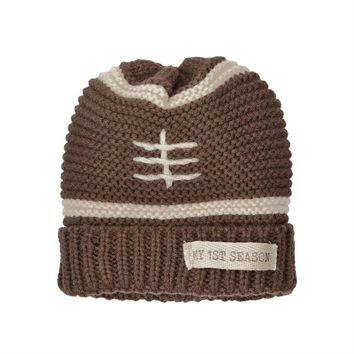 MUD PIE FOOTBALL KNITTED HAT