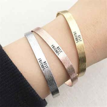 BFF Jewelry Friendship Gift Cuff Bracelet Best Friends Bangles