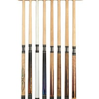 Viper Traditional Oak 8 Cue Wall Cue Rack