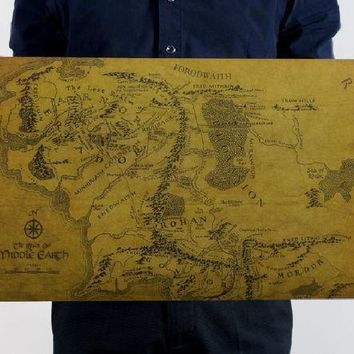 Ring World Map Leather Sea Wall Sticker [9576039759]