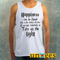 Harry Potter Quotes Happiness Can be Found Even in The Darkest of Times If One Remembers Clothing Tank Top For Mens
