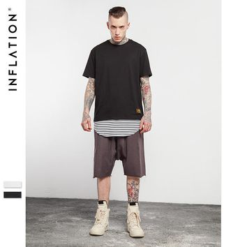 ca qiyif Two Piece Hiphop Plain Color T-shirt