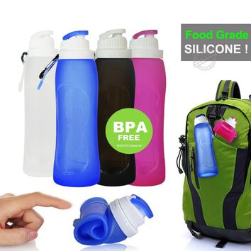 Collapsible Silicone Water Bottle BPA FREE