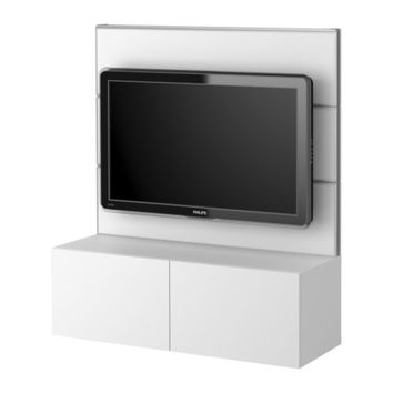 "BESTÅ/FRAMSTÅ TV/storage combination, white - 47 1/4x52 3/4 "" - IKEA"