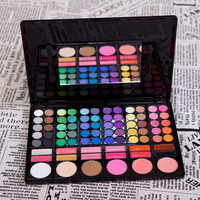 Professional 78 Colors Eyeshadow Palette Eye Shadow Lip Gloss Blusher Powder Palette