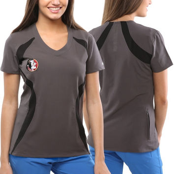 Florida State Seminoles New Balance Women's Nexus Scrub Top – Gray