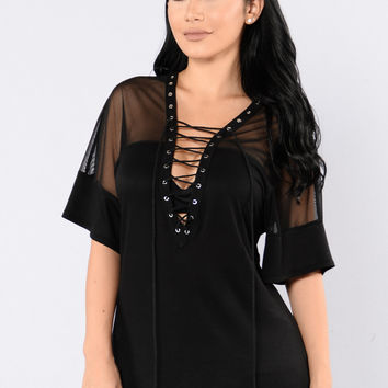 Mixed Feelings Top - Black