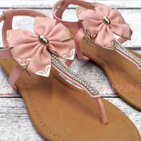 Malibu Sands Teal Rope Hippie Beach Ankle Sandals
