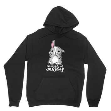 bunny anxiety Unisex Hoodie